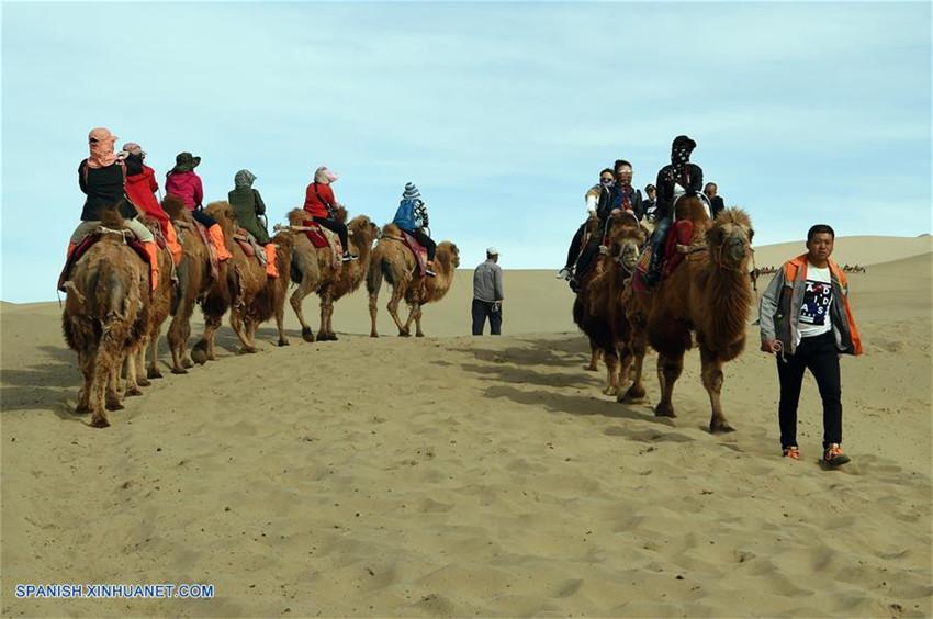 Gansu: Montaña de Arena Mingsha en Dunhuang