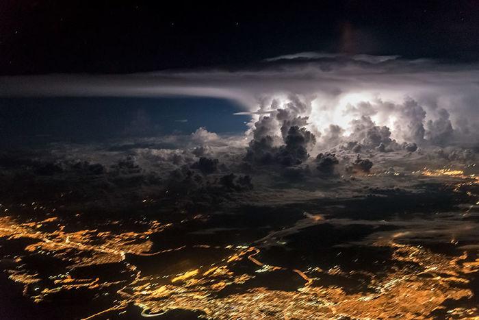 Un piloto hace fotos increíbles desde la cabina