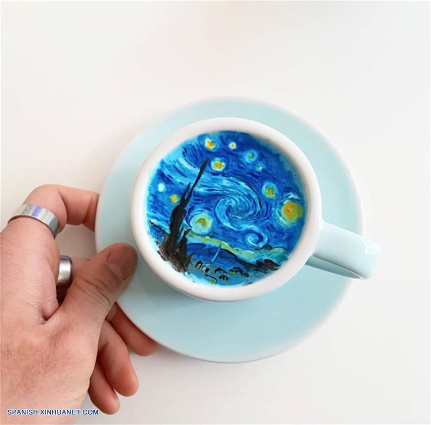 Tazas de caf con leche decoradas por barista lee kang bin for Capacidad taza cafe con leche