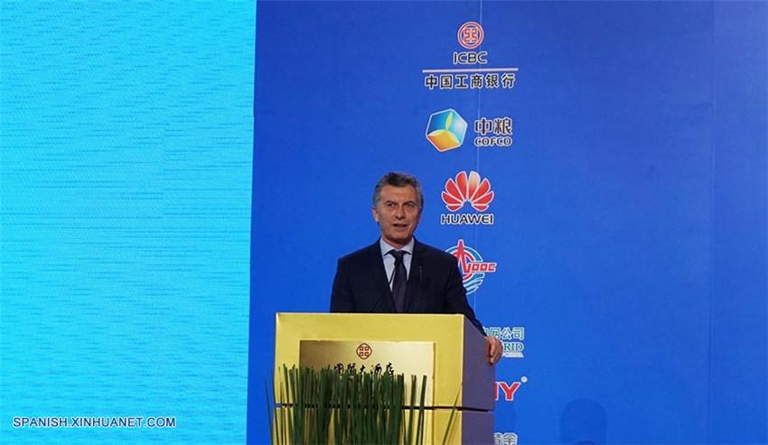 Macri resalta capacidad de empresas chinas de aportar conectividad a infraestructuras en Argentina