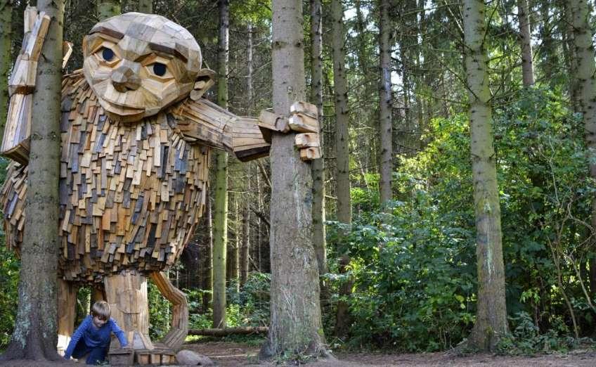 Arte creativo: Los gigantes ocultos en Dinamarca5