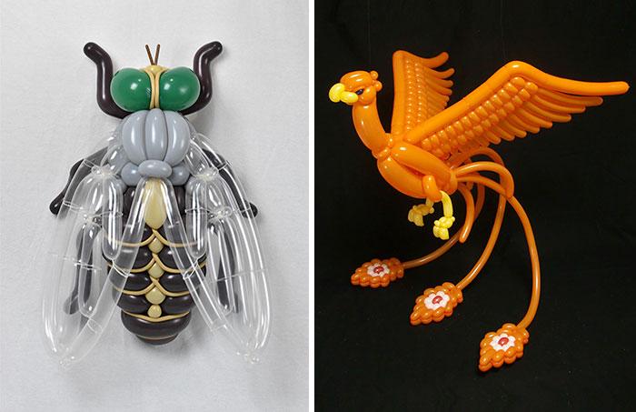 10 increíbles animales de globo hecho por el artista japonés Masayoshi Matsumoto