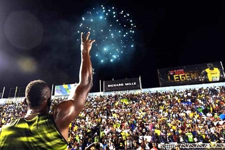 Apoteósica despedida de Usain Bolt en Jamaica