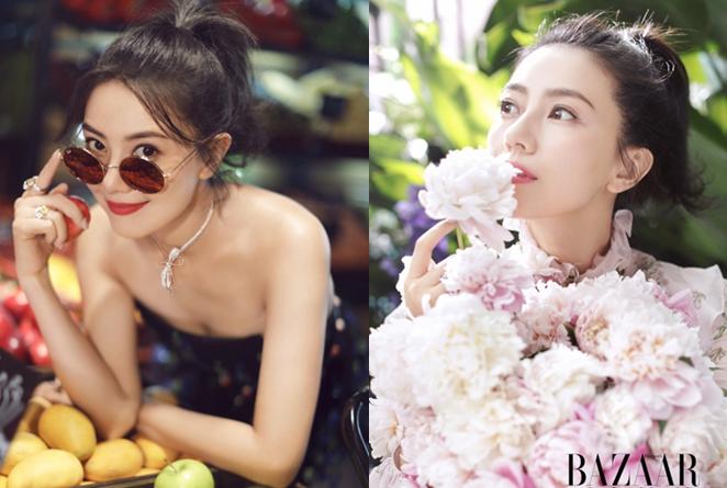Actriz china Gao Yuanyuan posa hermosa para Bazaar