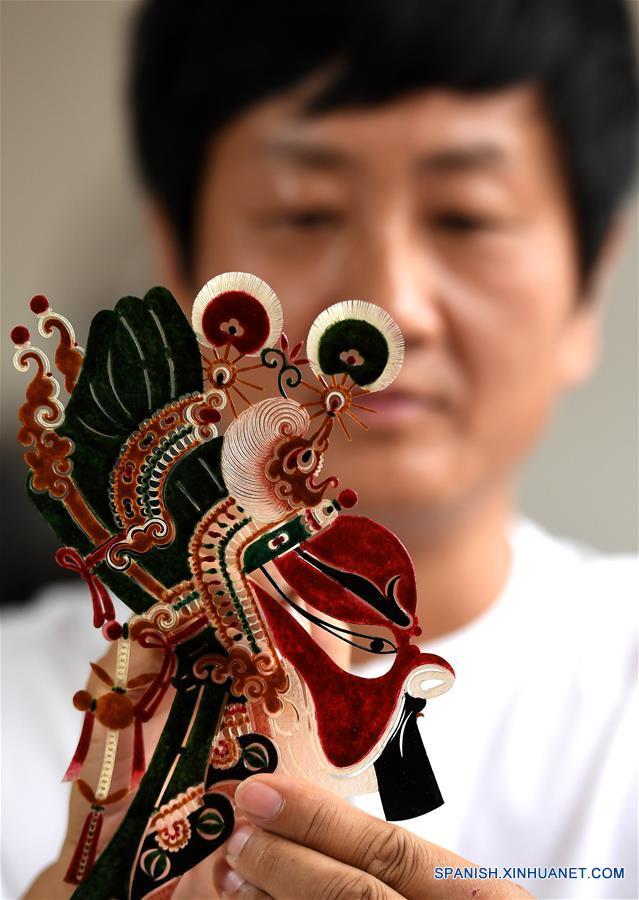 Títeres de sombra en Weinan, Shaanxi