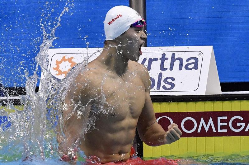Chino Sun Yang gana título de 400 m libres por 3a ocasión en mundial de FINA