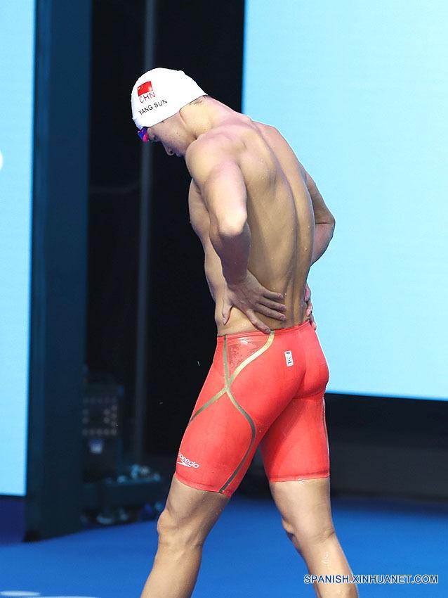 Natación: Sun Yang de China termina en quinto lugar en 800 metros estilo libre en campeonato