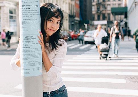 Nuevas fotos de actriz Zhang Jiani en Nueva York