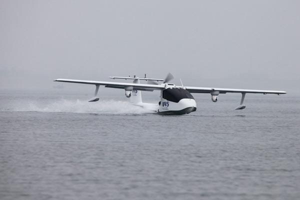 Producen en China primer dron anfibio para fines comerciales