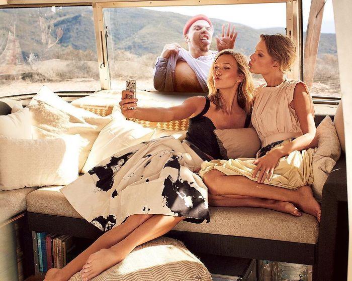 Este hombre sigue photoshopeandose en las vidas de los famosos y no podemos parar de reír