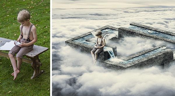 15 Fotos de antes y después del arte digital