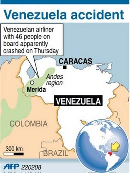 All the 46 people aboard the Santa Barbara Airlines airplane died after the plane crashed on Thursday in Venezuela's Andean region, Venezuela's National Civil Protection Department reported on Friday.