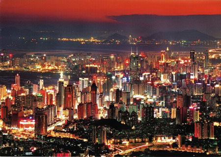 Shenzhen, Guangdong Province. Area:1952.48 sq km. Population:1819300