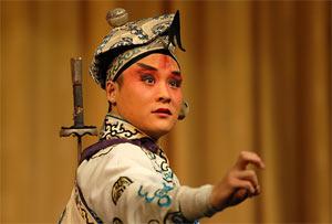 A male role, or Sheng, in a Peking Opera play.