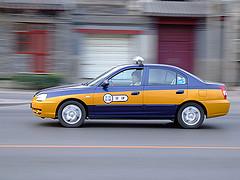 A Hyundai Elantra taxi in Beijing.