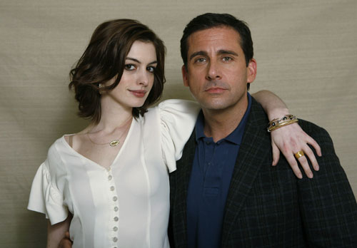 Anne Hathaway gave Steve Carrell pink eye when they kissed in new movie 'Get ...