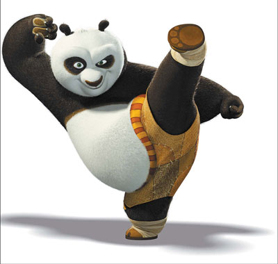 culture and landscape through martial arts cartoon Kung Fu Panda