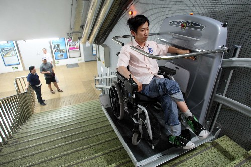 Beijing metro more accessible to the handicapped china for 2 story wheelchair lift