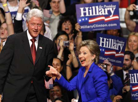 U.S. former President Bill Clinton vowed on Tuesday to help Barack Obama, who beat his wife, Hillary, in the Democratic presidential nomination race, to win the bid for the White House.