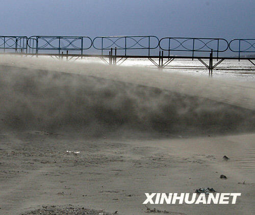 This picture taken on May 23, 2008 shows that the Dalai Lake, the largest fresh water lake in northern China, is running dry.