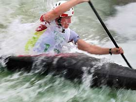 Canoeists prepare for the upcoming Olympics