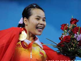 Chen Xiexia wins China first gold medal