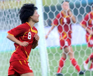 China draws Canada 1-1