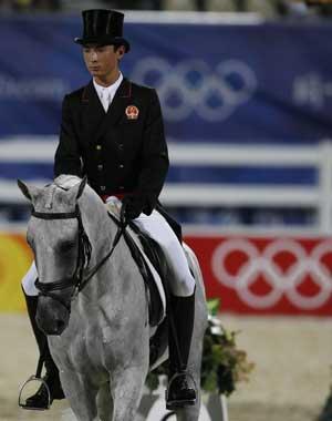 Chinese rider makes historic debut