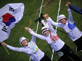S Korean women's team wins gold