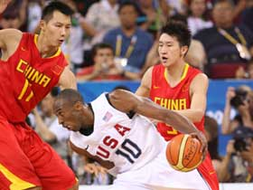 China loses to US 101-70