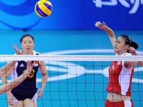Host China suffers 3-2 loss to Cuba in women's volleyball