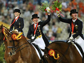 Germany bags 3 Olympic equestrian golds