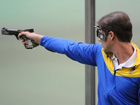 Ukraine's Petriv wins men's 25m rapid fire pistol gold