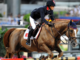 HK rider delivers strong show in jumping contest
