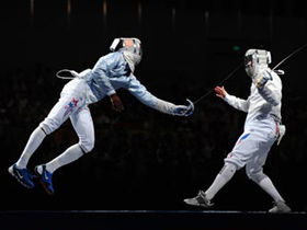 France wins men's sabre team gold