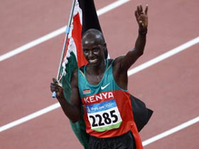 Kenya wins men's 3000m steeplechase gold