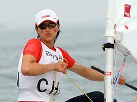 China's Xu wins historic Laser Radial bronze at sailing