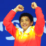 He Chong, gold medal winner of 3m springboard diving