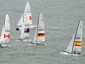 Olympic tornado sailing competition on Thursday