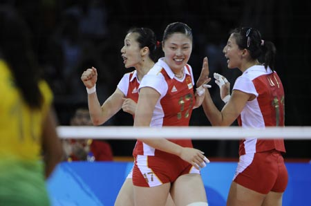 China sent packing by Brazil in women's volleyball ...