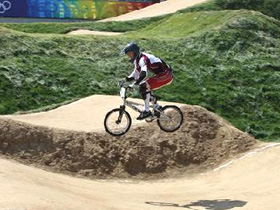 Latvia wins first-ever Olympic men's BMX gold