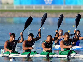 Belarus wins men's kayak four (K4) 1,000m gold