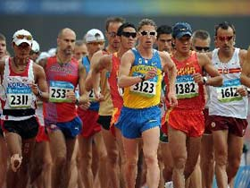 Beijing Olympic men's 50km walk underway