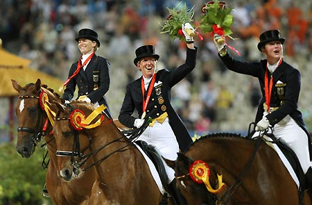 Germans Dominate Olympic Equestrian Competitions China