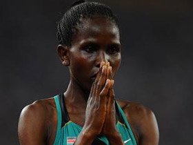Kenya's Nancy Jebet Langat won the women's 1500 meters gold medal at the Beijing Olympic Games on Saturday.