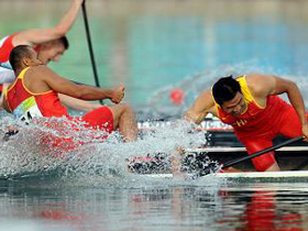 Meng/Yang of China retain men's canoe double (C2) 500m gold