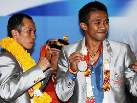 Thai Olympic athletes welcomed by countrymen