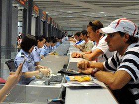 Beijing airport sees peak traffic after Games