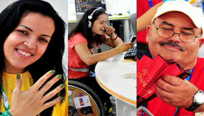 Athletes and delegates from all over the world gathered in Beijing to attend the Beijing 2008 Paralympic Games which will be opened on September 6.