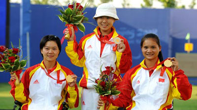 China wins Women's Team Recurve-Open gold medal